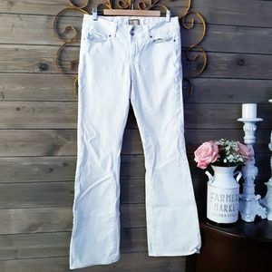 Paige HH Boot Cut White Jeans
